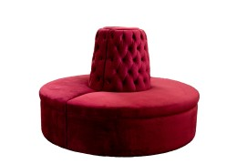 Large Circle settee with no tufting on seat