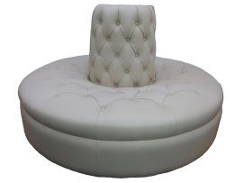 Leather round banquette